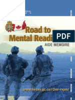 Road to Mental Readiness; Aide Memoire