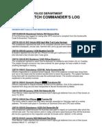HPD Patrol Watch Log 7-10-13 Day