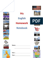 Cover page for homework notebook