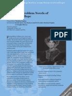 Leaflet for The Social Problem Novels of Frances Trollope