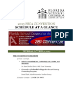 2013 FSCA Convention Schedule at a Glance