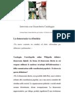 Intervista a Gianroberto Casaleggio al Corriere della Sera