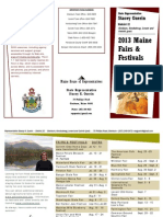 2013 Maine Fairs and Festivals