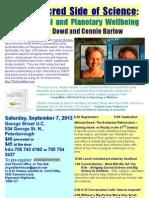 Sept 7 Flyer for Scribed With Registration, Sponsors, And Link