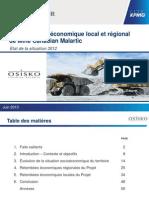 Étude de suivi économique local et régional de la mine Canadian Malartic