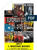 European Cinema Dvds listed by Themes , Topics and Directors July 2013