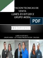 Capacitacion Tecnicas de Venta Julio 2013 01-07-2013