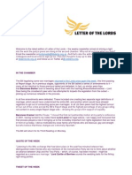 Letter of the Lords - July 11, 2013