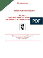 Analyse Du Discours Et Rhetorique