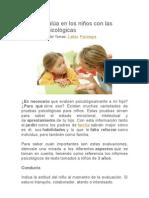Qué se evalúa en los niños con las pruebas psicológicas