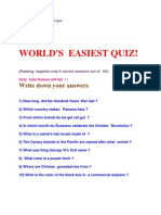 World's Easiest Quiz