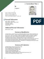 Curriculum Vitae Jovan Soldatovic