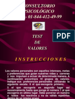 3. Test Valores Personal