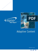 Adaptive Content Blue Paper by promotional products retailer 4imprint
