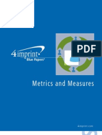 Metrics and Measures Blue Paper by promotional products retailer 4imprint