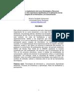Caraballo. Rediseño e implantación del curso Estrategias y Recursos Instruccionales, Las TIC
