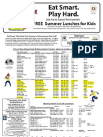Free Summer Food Flyer 2013