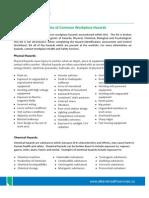 Examples Common Workplace Hazards Ah s