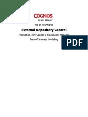 Cognos External Repository Control | Xml | Computer File