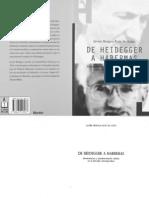 Bengoa Javier de Heidegger a Habermas