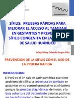 Pruebas Rapidas Sifilis y Control de Calidad 2011
