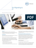 Best Practices for Migrating to Sharepoint 2013 Whitepaper 7919