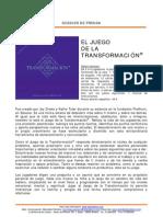 Dossier El Juego de La Transformacin