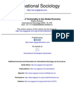 Sassen - Territory and Territoriality in the Global Economy