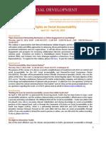 Highlights on Social Accountability (April 15-22, 2013)