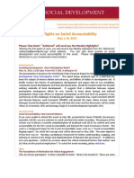 Highlights on Social Accountability (May 1-10, 2013)