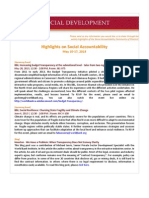 Highlights on Social Accountability (May 10-17, 2013)