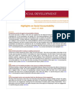 Highlights on Social Accountability (June 5-17, 2013)