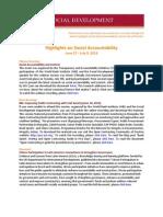 Highlights on Social Accountability (June 27 - July 9, 2013)