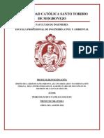 ANTEPROYECTO DISEÑO DE LA RED DE SANEAMIENTO, ALCANTARILLADO Y PAVIMENTACION EN EL CENTRO POBLADO EL AGROPECUARIO