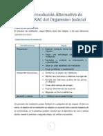 Los Centros de Mediación del Organismo Judicial