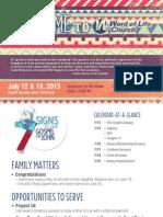 Church Bulletin for July 12 & 14, 2013