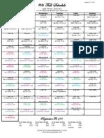 Fall Schedule 2013-2014 No Teachers