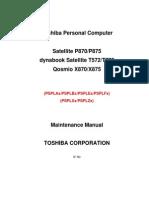 Toshiba Qosmio X870 X875 X70 X75 Service Manual
