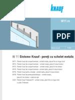 Fisa Tehnica Knauf - Pereti Cu Schelet Metalic