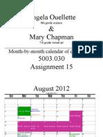 a 15 collaborative calendar