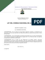 Ley Del Consejo Nacional de La Juventud (Actualizada-07)