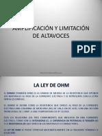 1.1 Amplificacion y Limitacion de Altavoces