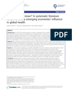 Harmer Et Al 2013 - BRICS Without Straw - A Systematic Literature Reviw of Newly Emerging Economies Influence in Global Health
