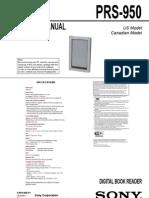 Sony PRS-950 Service Manual
