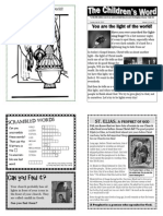 Children's Word bulletin for Sunday, July 14th, 2013