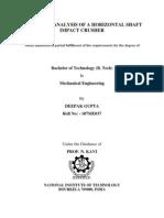 Design and Analysis of a Horizontal Shaft