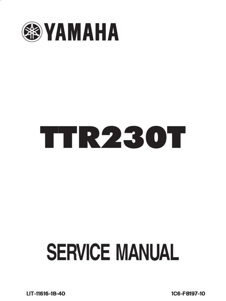 TTR-230   Piston   Nut (Hardware)