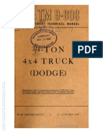TM9-808 DODGE 3/4 TON 4 X 4 TRUCK