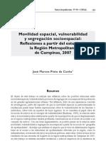 Da Cunha, Jos+® (2011) - Movilidad espacial, vulnerabilidad y segregaci+¦n socioespacialÔǪ