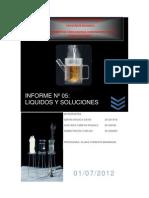 Informe de Quimica Liquidos y Soluciones